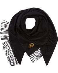 Burberry - Cashmere Crest Scarf - Lyst