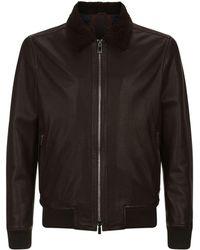Corneliani - Leather Aviator Jacket - Lyst