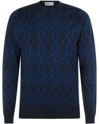 John Smedley - Linear Merino Wool Sweater - Lyst