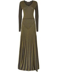 Roberto Cavalli - Knitted Metallic Dress - Lyst