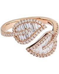 Anita Ko - Small Rose Gold Leaf Ring - Lyst
