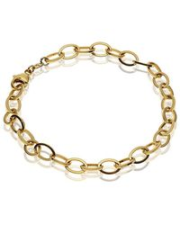 Theo Fennell - Yellow Gold Outline Link Bracelet - Lyst