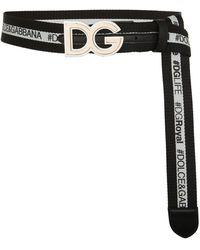 Dolce & Gabbana   Reversible Logo Belt   Lyst