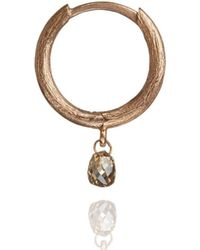 Annoushka - Hoopla Diamond Hoop Single Rose Gold Earring - Lyst