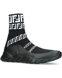 Fendi - Logo Sneaker Boots - Lyst