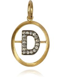 Annoushka - Yellow Gold And Diamond Initial D Pendant - Lyst