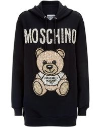 Moschino - Teddy Bear Embellished Hoodie - Lyst