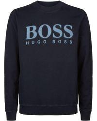 BOSS Orange - Fade Logo Printed Sweatshirt - Lyst