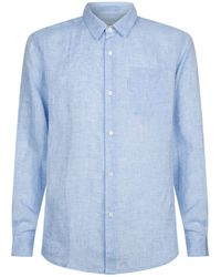 Derek Rose - Linen Shirt With Pocket - Lyst