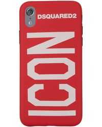 DSquared² - Icon Slogan Iphone X Case - Lyst