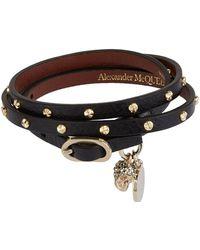 Alexander McQueen - Leather Studded Wrap Bracelet - Lyst