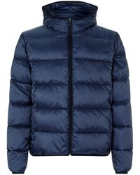 Paul & Shark - Quilted Down Hooded Coat - Lyst