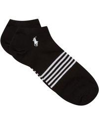 Ralph Lauren - Logo Trainer Socks (pack Of 3) - Lyst