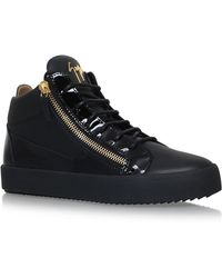 Giuseppe Zanotti - Mid-top Mixed Leather Sneaker - Lyst