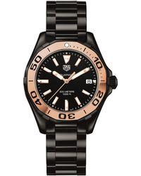 Tag Heuer - Aquaracer Ceramic Rose-gold Watch - Lyst