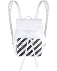Off-White c/o Virgil Abloh - Diagonals Leather Backpack - Lyst