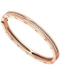 BVLGARI - Bvgl Bzero1 Bracelet 18k Wg - Lyst