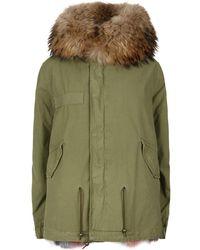 Mr & Mrs Italy - Fur Lined Mini Army Parka - Lyst
