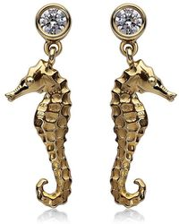 Theo Fennell - Seahorse Drop Earrings - Lyst
