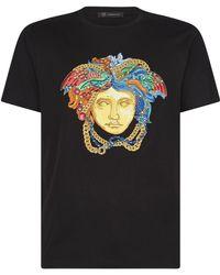 Versace - Embroidered Medusa T-shirt - Lyst