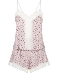 Eberjey - Petite Fleur Pyjama Romper - Lyst