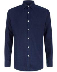 Canali - Circle Long Sleeve Shirt - Lyst