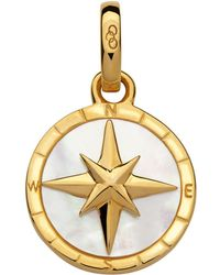 Links of London - Yellow Gold Compass Charm - Lyst