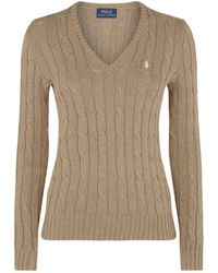 Polo Ralph Lauren - Kimberly Cable Knit Jumper - Lyst