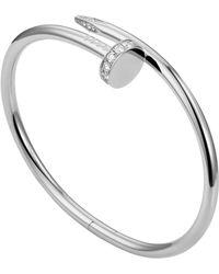Cartier - White Gold Juste Un Clou Pav Diamond Necklace - Lyst