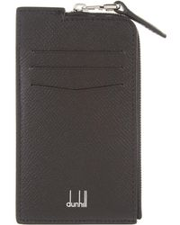 Dunhill - Leather Zipped Card Holder - Lyst