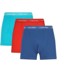 Calvin Klein - Stretch Cotton Trunks (pack Of 3) - Lyst