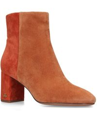 Tory Burch - Suede Brooke Ankle Boots 70 - Lyst