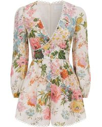 Zimmermann - Heathers Floral Playsuit - Lyst