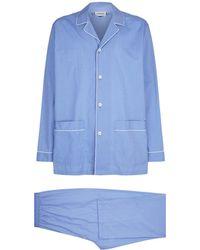 Zimmerli | Cotton Long-sleeve Pyjama Set | Lyst