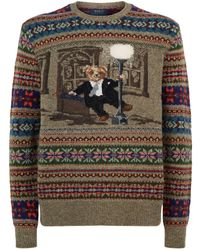 8f4318007 Polo Ralph Lauren - Bear Singing In The Rain Sweater - Lyst