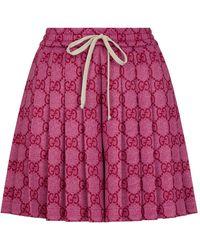 Gucci Pleated Logo Shorts