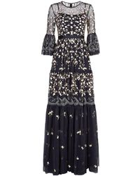Needle & Thread - Climbing Blossom Tiered Gown - Lyst