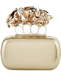 Alexander McQueen - Patent Four Roses Knuckle Clutch - Lyst