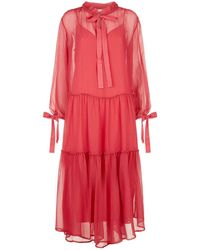 See By Chloé - Tiered Midi Dress - Lyst