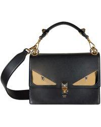 cff7e85b71 Lyst - Fendi Petite 2jours Bag Bugs Leather Cross-body Bag in Black