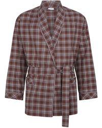 Zimmerli - Cotton Check Robe - Lyst