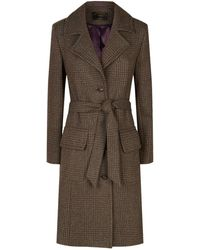 James Purdey & Sons - Ellis Tweed Coat, Grey, Uk 10 - Lyst