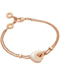 BVLGARI - Rose Gold Mother-of-pearl Bracelet - Lyst