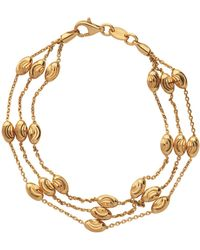 Links of London - Yellow Gold Vermeil Essentials 3 Row Bracelet - Lyst