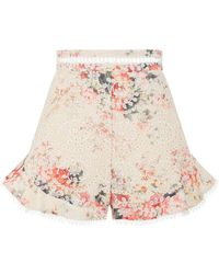 Zimmermann - Laelia Broderie Anglaise Shorts - Lyst