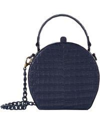 Nancy Gonzalez Billie Crocodile Rounded Box Bag - Blue