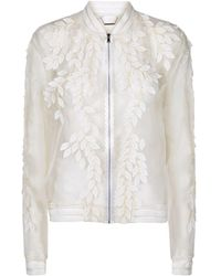 Elie Tahari | Brandy Leaf Appliqu Sheer Jacket | Lyst