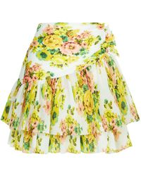 Zimmermann - Golder Surfer Floral Skirt - Lyst