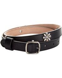 Burberry - Embellished Leather Belt - Lyst