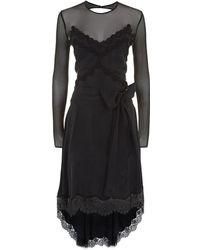 Faith Connexion - Tiered Silk Dress - Lyst